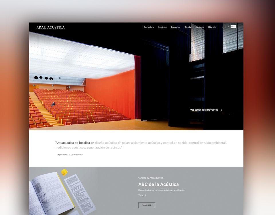 "ArauAcustica - <b>Arau Acústica</b>  <br><span style=""color: white; font-weight:300; font-size:85%;"">Tienda on-line</span>"